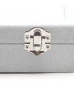 Coffret mallette pour bagues velours ras gris clair