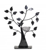 Arbre à boucle d'oreille Oiseau (50 paires) - Noir