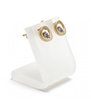 Mini support boucle d'oreille petit panneau 2 cm (1 paire) - Translucide