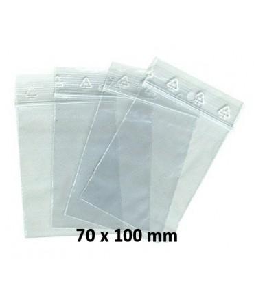 Sachets fermeture ZIP en plastique 50 microns 70 x 100 mm