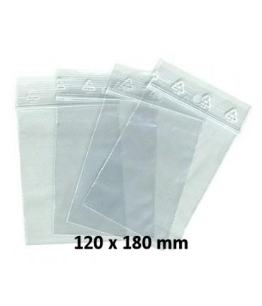 Sachets pochettes plastique zip 120 x 180 mm