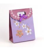 Pochette cadeau 16x12 cm Fleurs lot de 12