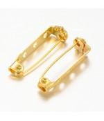 Broche épingle sécurité création bijoux 27mm ( 10 Pièces )