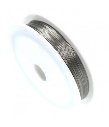 Fil câblé 0.38 mm en bobine de 50 mètres - Gris
