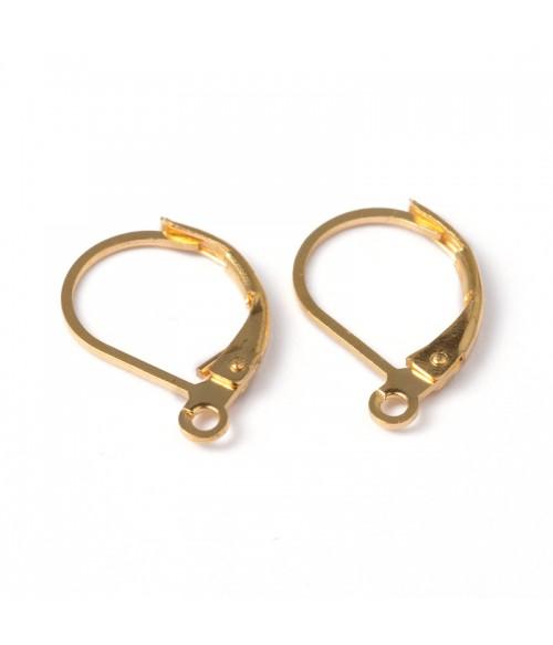 Support boucles d'oreilles dormeuses 15 x 10 mm (10 pièces)