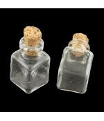 Mini fiole bouteille pendentif 25x14x14 mm ( 5 Pièces )