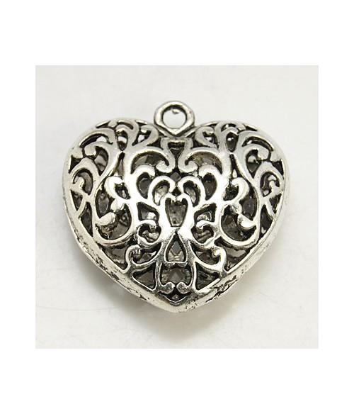 Grande breloque coeur style tibétain