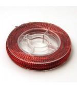 Fil nylon tréssé 0.6mm couleur métallisée (10 m)