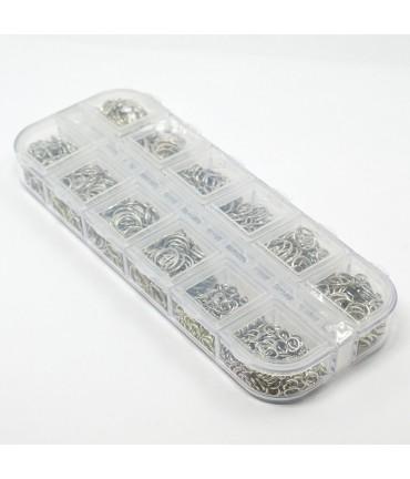 Kit anneaux de jonction 4 à 10 mm gris ( 600 Pcs )
