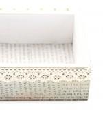 Plateau bijoux et bagues en bois et tissu 8 compartiments