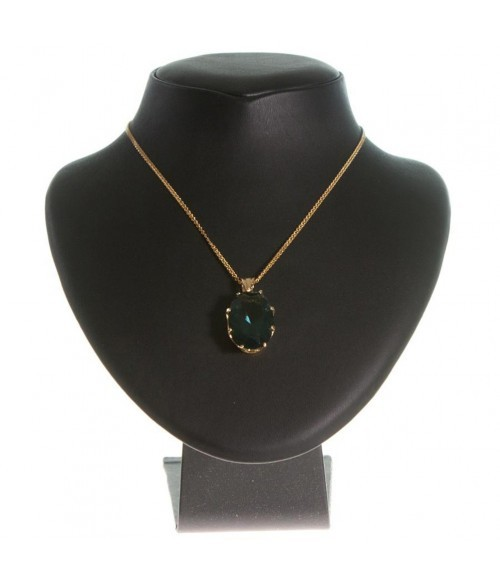 Presentoir collier buste en simili cuir de 20 cm