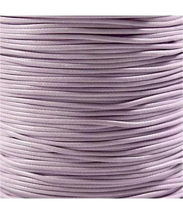 Fil nylon ciré pour bracelets tressés et shamballa 1.5 mm (10 mètres) - Parme