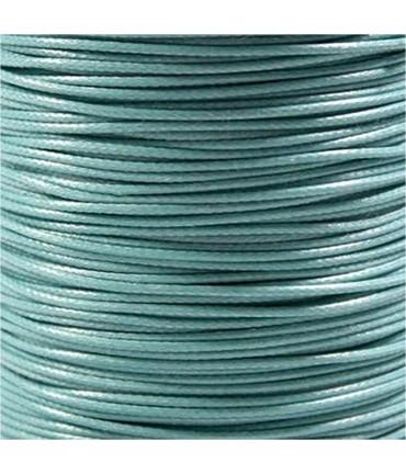 Fil nylon ciré pour bracelets tressés et shamballa 1.5 mm (10 mètres) - Turquoise