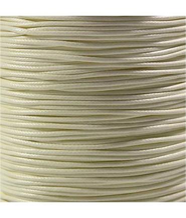 Fil nylon ciré pour bracelets tressés et shamballa 1.5 mm (10 mètres) - Beige