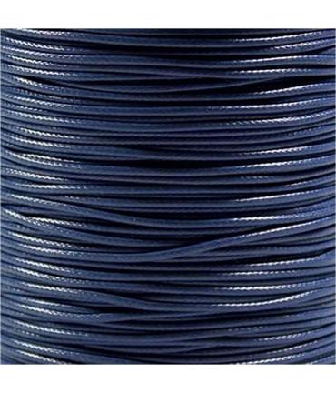 Fil nylon ciré pour bracelets tressés et shamballa 1.5 mm (10 mètres) - Bleu marine