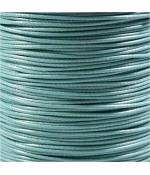 Fil nylon ciré pour bracelets tressés et shamballa 2 mm (10 mètres) - Turquoise