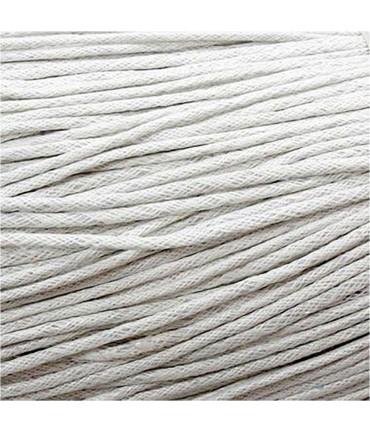 Fil coton ciré 2 mm (10 mètres) - Blanc