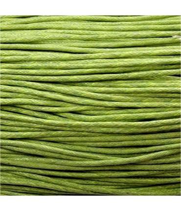 Fil coton ciré 2 mm (10 mètres) - Vert
