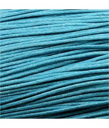 Fil coton ciré 2 mm (10 mètres) - Turquoise