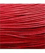 Fil coton ciré 2 mm (10 mètres) - Rouge
