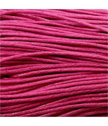 Fil coton ciré 2 mm (10 mètres) - Rose vif