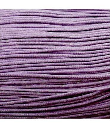 Fil coton ciré 2 mm (10 mètres) - Mauve