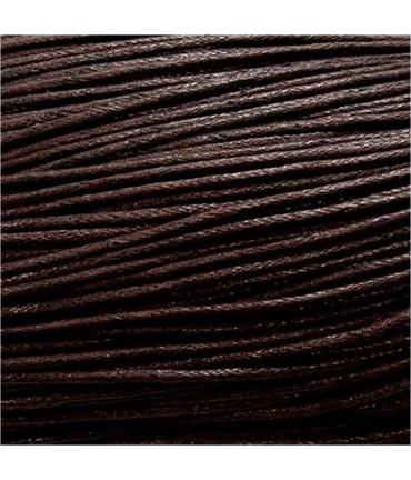 Fil coton ciré 2 mm (10 mètres) - Marron foncé
