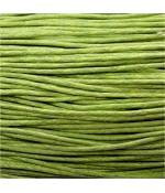 Fil coton ciré 1,5 mm (10 mètres) - Vert