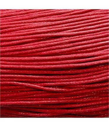 Fil coton ciré 1,5 mm (10 mètres) - Rouge