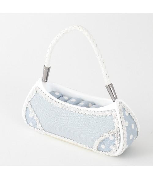 Porte bague sac à main bleu PM