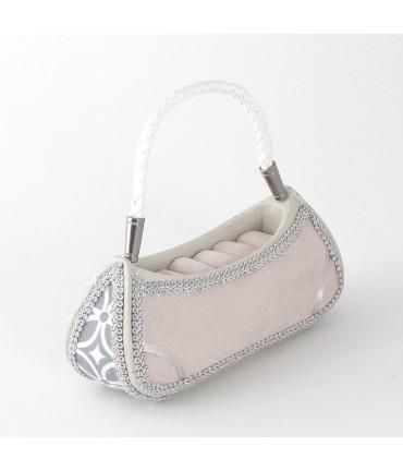 Porte bague sac à main rose GM
