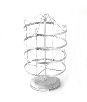 Tourniquet pour boucles d'oreilles Carrousel (96 paires) - Gris patiné