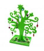 Arbre à boucle d'oreille et bijoux Garden tree - Vert