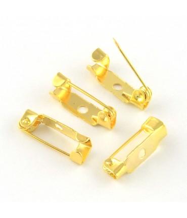 Broche épingle création bijoux 15mm ( 10 Pièces ) - Doré