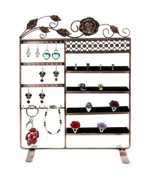 Porte bijoux cadre Fleur boucle bracelet bague et accessoire
