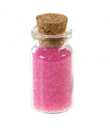 Microbilles caviar translucides en fiole - Rose