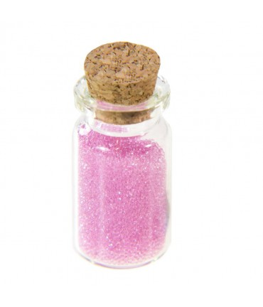 Microbilles caviar translucides en fiole - Rose clair