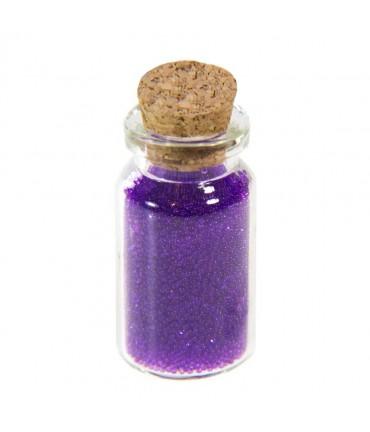 Microbilles caviar translucides en fiole - Violet
