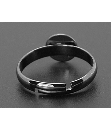 Support bague fimo réglable 18 mm tamis 8 mm (5 pièces) - Anthracite