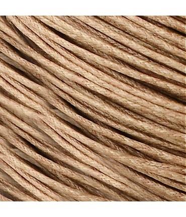 Fil coton ciré 2 mm (10 mètres) - Brun