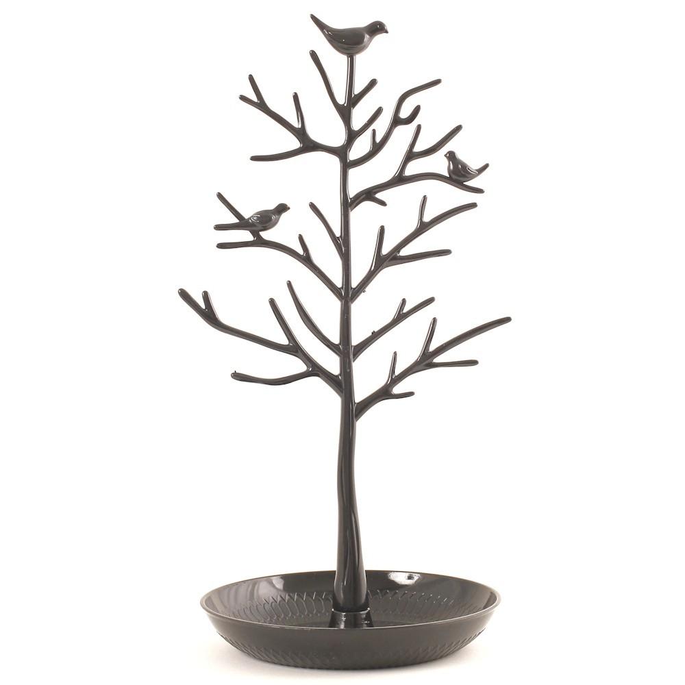 porte bijoux arbre plastique avec corbeille. Black Bedroom Furniture Sets. Home Design Ideas