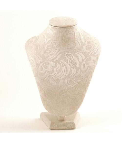 Buste tissu arabesque beige 23 cm