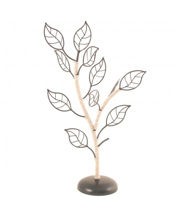 Porte bijoux arbre métal et sisal