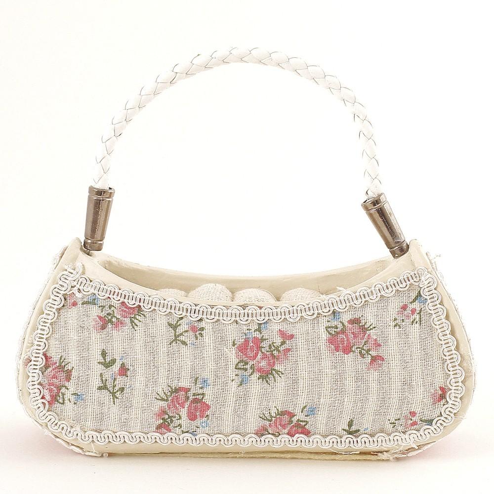Porte bague sac main fleurs roses - Porte sac a main ...