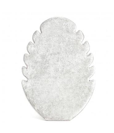 Présentoir pour colliers vertical ovale gris (5 colliers)
