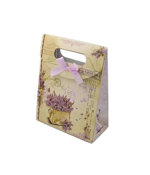 Pochette cadeau 16.5x12.5 cm lavande lot de 12