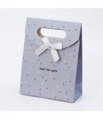 Pochette cadeau 16.5x12.5 cm gris lot de 12