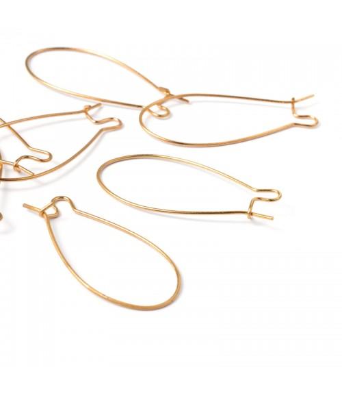 Attache boucle d'oreille crochet 43 mm (50 pièces)