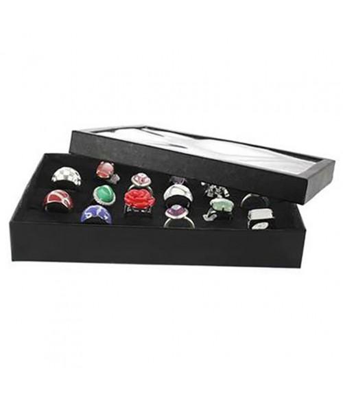 boite de rangement bijoux ou coffret pour 24 bagues. Black Bedroom Furniture Sets. Home Design Ideas