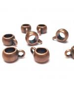 Bélière pendentif ronde pour fil de 4 mm  (10 pièces)